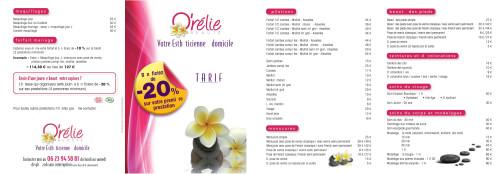 Tarification pour Pourquoibouger.com de O'rélie Beauté esthéticienne à domicile sur Verneuil sur seine 78480